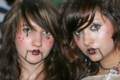 Halloween Maidens (wyojones) Tags: girls beautiful beauty face look mouth hair evening eyes women pretty texas expression lace makeup lips trf teen renfaire jewlery lovely renaissancefestival facepaint renaissance renaissancefaire renfest rennie texasrenfest texasrenaissancefestival plantersville toddmission wyojones