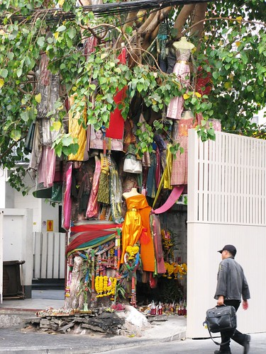 Unique way of displaying dresses - Bangkok, Thailand