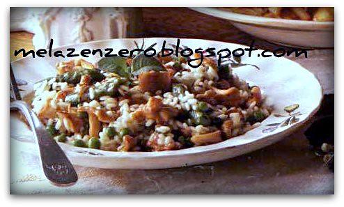 risotto funghi e asparagi