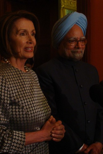 Speaker Pelosi and Prime Minister Manmohan Singh