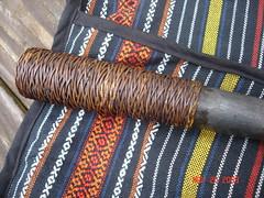 Rattan Wrapped Handle of Laraw (kukulza28) Tags: knife taiwan sword aborigine blade machete dao 烏來 rattan taiwanese wulai sheath 刀 atayal 原住民 tayal 銅門 laraw yuanzhumin 番刀 mgaga
