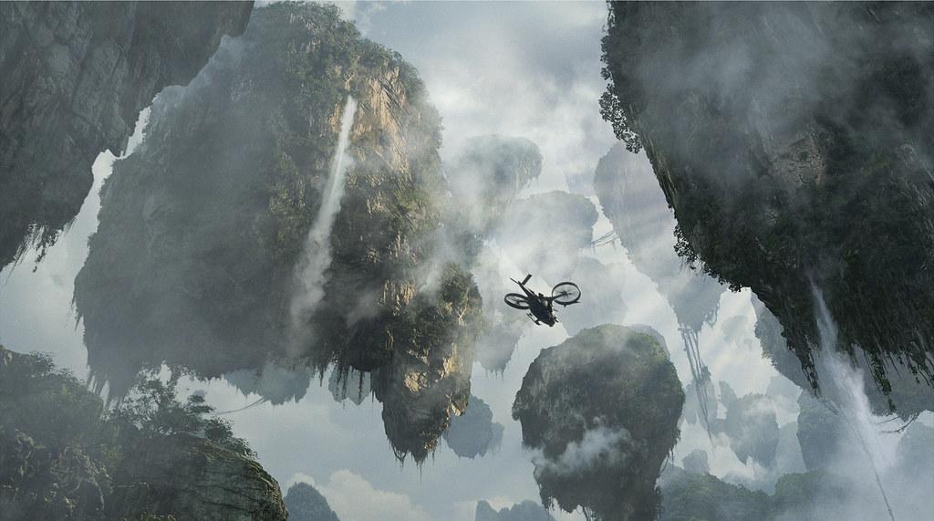 Avatar piedras flotando montañas