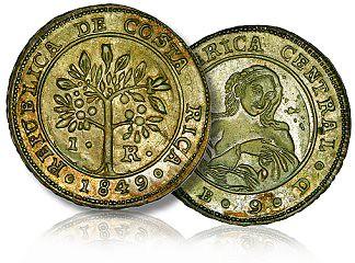 1849 Costa Rica silver coin