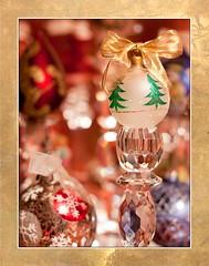 Let the Season Begin! (jeana58) Tags: christmas blue red green texture silver gold crystal bokeh sparkle ornaments frame framing candlestick eddi07 jeana58