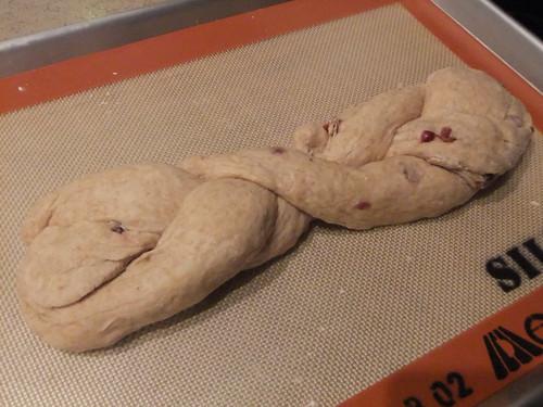 Whole Wheat Challah w/ Cranberries