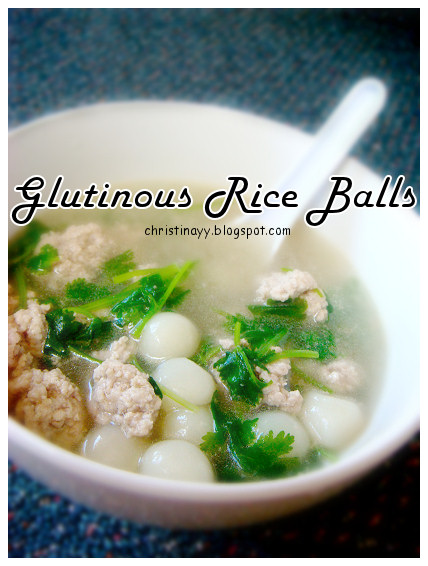 Cantonese Style Glutinous Rice Balls