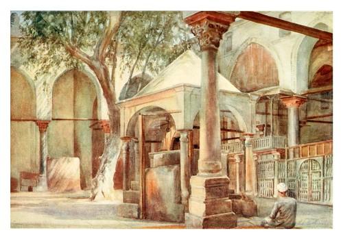 014- Interior de la mezquita de Almase en el Cairo-Cairo, Jerusalem, and Damascus..1907- Margoliouth D. S.