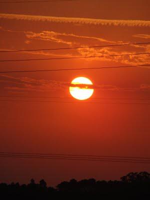 Por do sol vermelho...
