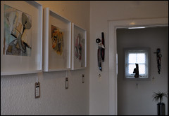 Hallway at V32 (tartandart) Tags: sculpture art assemblage eastlothian 3harboursartsfestival shymerge