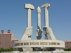 Monument to the Korean Workers Party - Pyongyang (mikestuartwood) Tags: asian asia north korea communist communism korean socialist socialism northkorea dprk dpr northkorean dprkorea dprkorean