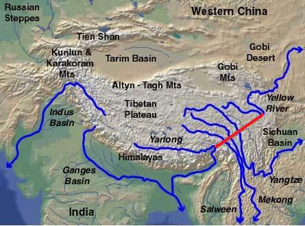 Chinese diversion of Brahmaputra water