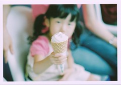 I scream for ice cream.... (blackteaj.justice) Tags: film canon daughter icecream   fujicolorpro400h canonfx