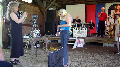 20090705 - X-Day - GEDC0392 - Carolyn receiving Goddess Of Mellowing The Harsh award - please click through to leave a comment on FlickR