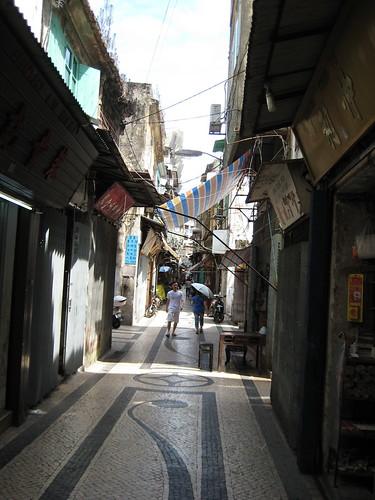 Macau side street in old quarter