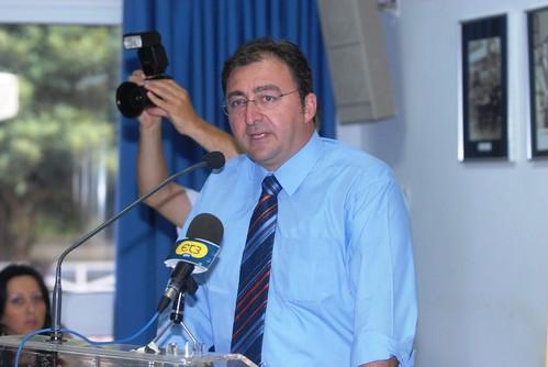Ο δήμαρχος Κορινού κ. Νίκος Αβραμίδης κατά τον χαιρετισμό του