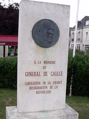 Photo of Charles De Gaulle stone plaque
