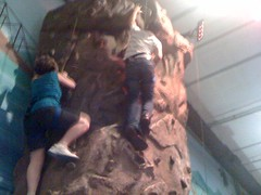 feeble attempts at rock climbing