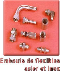 Embouts de flexibles acier et inox