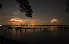 Heat lightning on the Rappahannock River. (tombass59) Tags: storm clouds river lightning rappahannock heatlightning