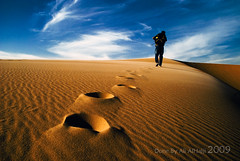 [      ] ( -Ali Al-Hajji) Tags: sky sand desert tracks footprints windblown