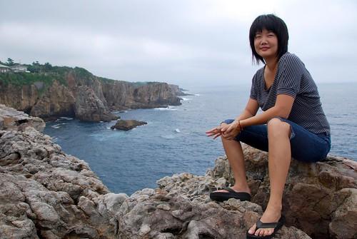 me on sandan-heki, shirahama