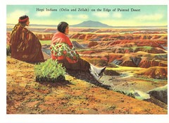 Route 66 Hopi Indians Postcard (crayolamom) Tags: arizona usa vintage route66 postcard az painteddesert northamerica indians hopi reprint