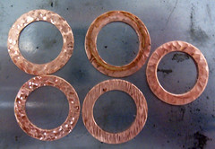 textured copper washers