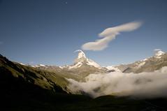 on the way to heaven (Toni_V) Tags: sky moon mountains alps clouds landscape schweiz switzerland europe suisse zermatt matterhorn alpen wallis valais cervin d300 cervino gornergratbahn toniv dsc0396 hörnlihütte theperfectphotographer マッターホルン ツェルマット zermatter スイス瑞西 エウロパ