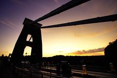 Sunset at the Clifton Suspension Bridge - Bristol (Mathew Roberts) Tags: bridge sunset bristol fiesta gorge suspensionbridge avon clifton 2009 cliftonsuspensionbridge eos400d mathewroberts