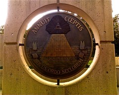 090811OKCMemorial22 (bradzone) Tags: city sculpture eye oklahoma memorial all pyramid great seal freemasonry seeing reverse illuminati freemasons novus ordo seclorum annuit coeptis