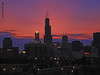 Chicago Sunset (iCamPix.Net) Tags: sunset chicago canon illinois searstower explore frontpage cookcounty 2030 willistower markiii1ds