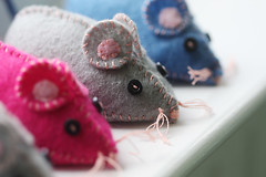 Felt Mice Pincushions