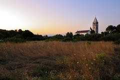 Church at Sunset (mmatasic) Tags: sunset tower church nature field grass skies pasman paman