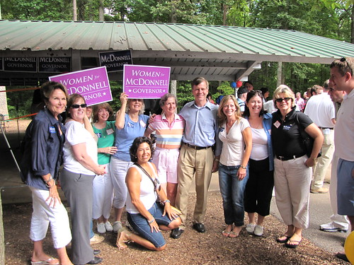 Women for McDonnell event @ Burke Lake Park