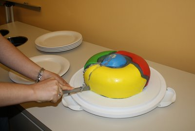 chrome birthday cake