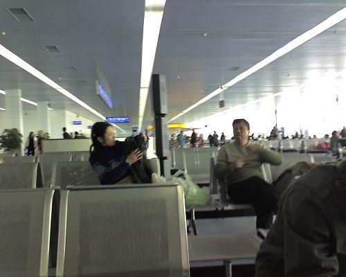昆明巫家坝机场的候机大厅