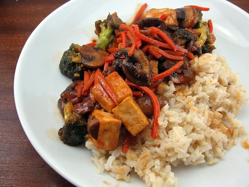 Barbecue Tofu Stir-Fry