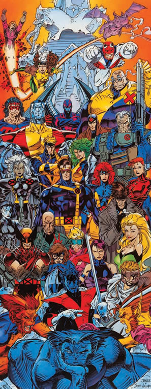 X-Men Forever Art featuring ALL the X-Men