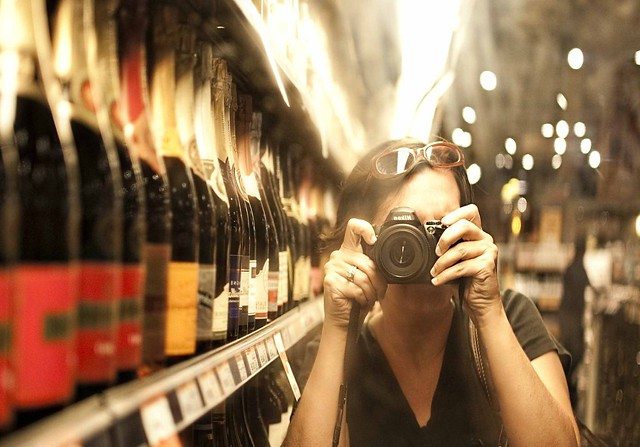 me in the wine section