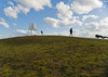 Time Check (Mark Broadhead) Tags: sky dog dogs grass hat clouds wind hill sunny australia melbourne running victoria lookingup runners elwood knoll rollo pointormond lpsky