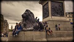 Around Trafalgar Square (2) (strussler) Tags: england london canon eos zoom lion trafalgarsquare sigma bigben wideangle tourists nelsonscolumn 1735mm photomatix 5dmkii