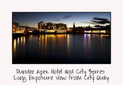 Dundee Apex Hotel and City Spires - Long Exposure View from City Quay (Magdalen Green Photography) Tags: longexposure blue reflections scotland cool dundee spires scottish apex tayside citycentre coolblue cityquay cityspires dundeeapexhotel longexposureview