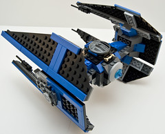 6206 tie fighter left rear (Big Cam crsx) Tags: starwars lego 6206