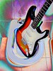 Hendrix (Gustavo Fernandes 66) Tags: bathroom guitar guitarra jimmy hendrix psychedelic strat banheiro stratocaster bidé psicadelismo