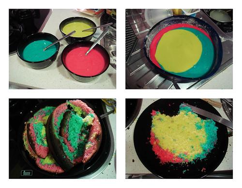 1st Rainbow cake