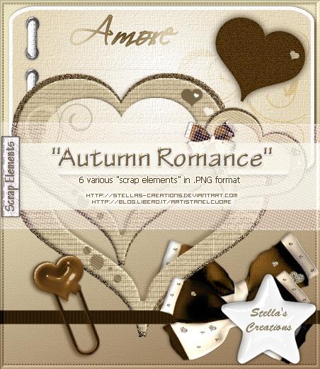 Autumn Romance - © Blog Stella's Creations: http://sc-artistanelcuore.blogspot.com