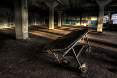 There's no comfort in the waiting room (Andy S. Foster) Tags: abandoned death for factory cab cutie creepy cart decayed decaying