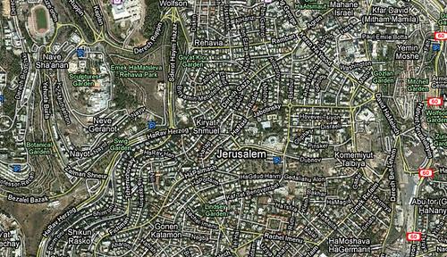 Google Maps Israel back to English
