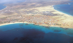 Santa Maria On Sal, Cape Verde, From The Air (oldt1mer) Tags: ocean sea holiday buildings island pier village view map aircraft air aerialview beaches land tropical santamaria sal caboverde capeverde