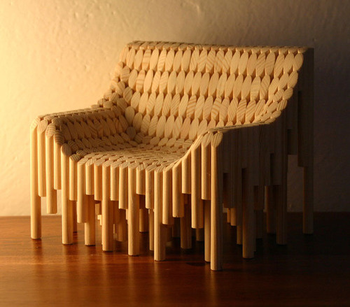 Chair Made From 374 Wooden Dowels Neatorama